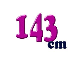 143cm