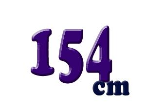 154cm